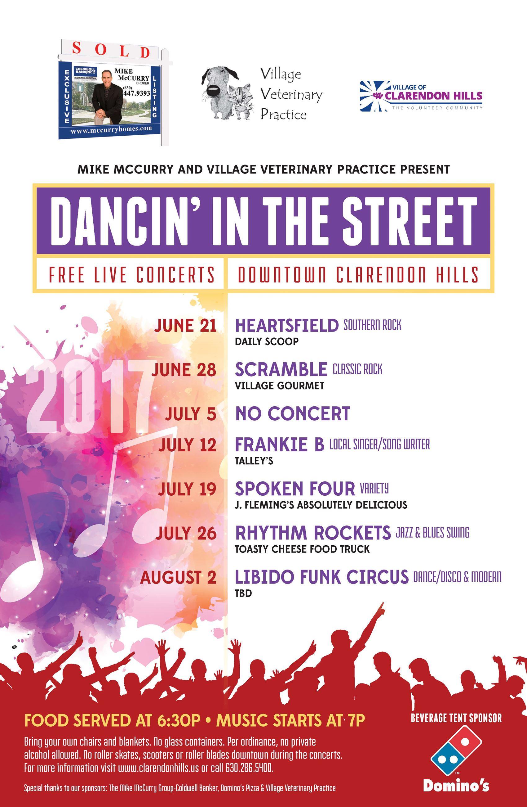 Clarendon Hills Dancin in the Street 2017 near West Suburban Funeral